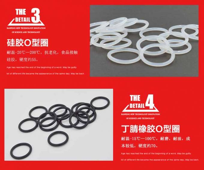 Warna Merah O Ring Seal Kit / Kecil O Ring Kit Bahan Virgin Silicone