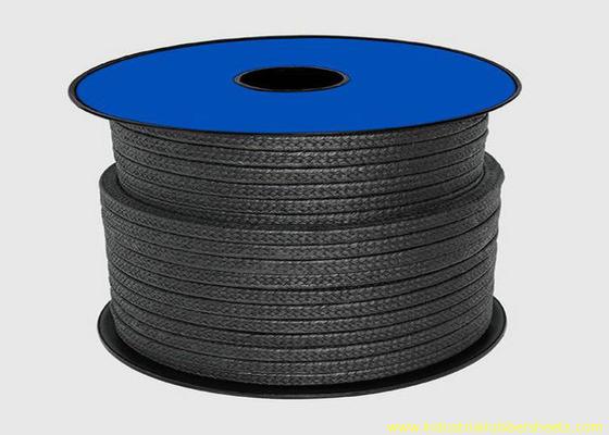 Cina Teflon Hitam PTFE Packing Untuk Material Sealing / Graphite Gland Packing Rope Distributor