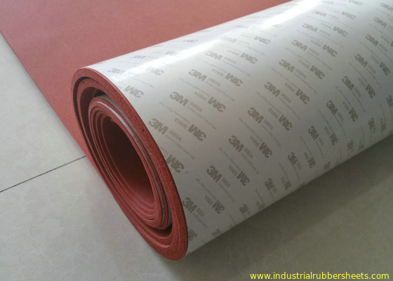 100% Elongation Silicone Foam Rubber Sheet / 3M Adhesive Backed Rubber Sheets