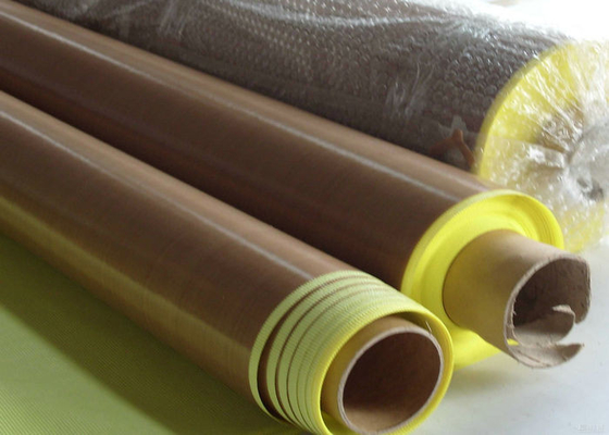 Perekat Anti Penuaan + Kertas PTFE Coated Fiberglass Fabric Smooth Permukaan
